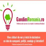 PES activists lanseaza GandimRomania.ro, prima platforma online dedicata celor care vor sa se implice in schimbarea Romaniei