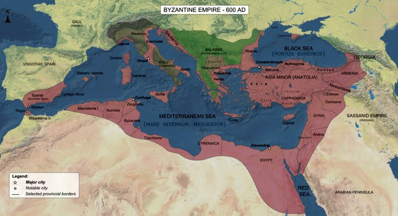 Byzantine Empire 600AD